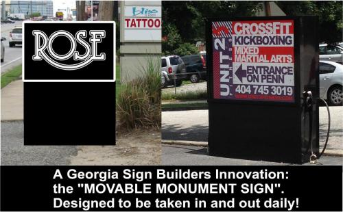 Movable Monument Signs